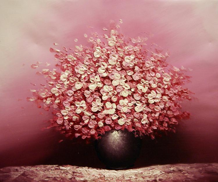 Pinturas de Flores Cor-de-Rosa