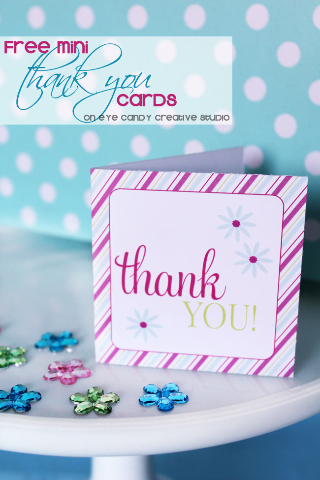 mini thank you cards, free download, free thank you cards, free cards