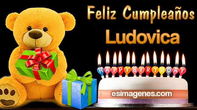 Feliz cumpleaños Ludovica