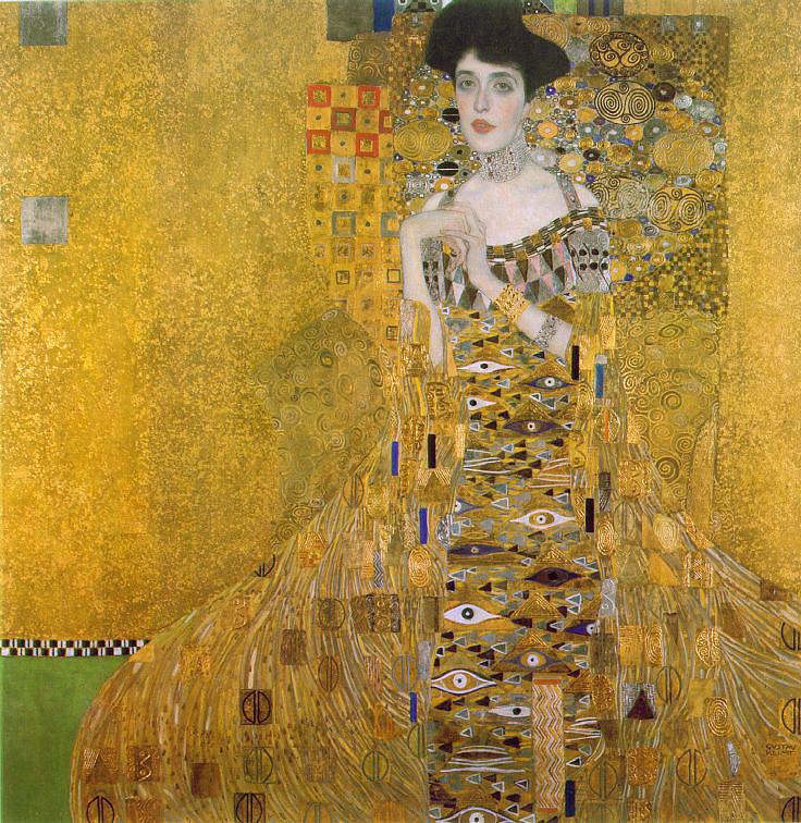 c3696f0d6cf8 Gustav Klimts Porträtt av Adele Bloch-Bauer I färdigställdes efter tre års  målande 1907. Porträttet är målat i olja, guld och silver.