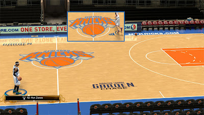 NBA 2K13 New York Knicks HD Floor Mod Patches