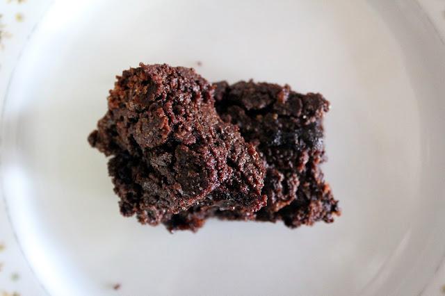 bittersweet chocolate brownies