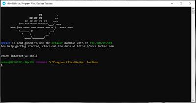 Docker Quickstart Terminal