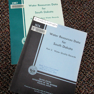2 copies of Water Resources Data for South Dakota - 1967 and 1974