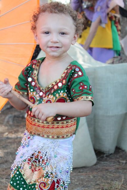 Child's gypsy renaissance faire costume