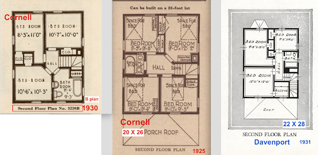 Sears Cornell vs Davenport second floor plans