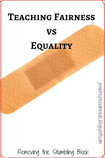 The Band Aid Activity for teaching fairness vs. equality; Removing the Stumbling Block