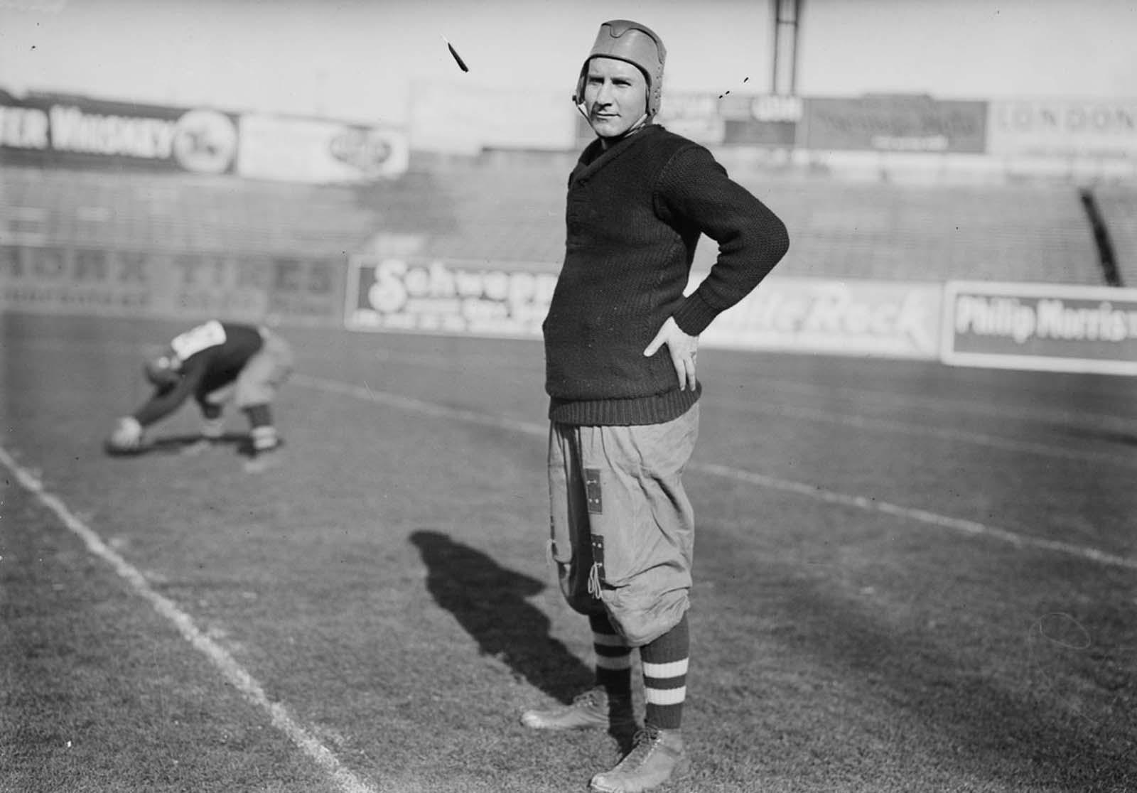 Brown University football player Theodore Chandler. 1910.