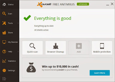 Download Avast! 2014 Free Antivirus untuk Windows
