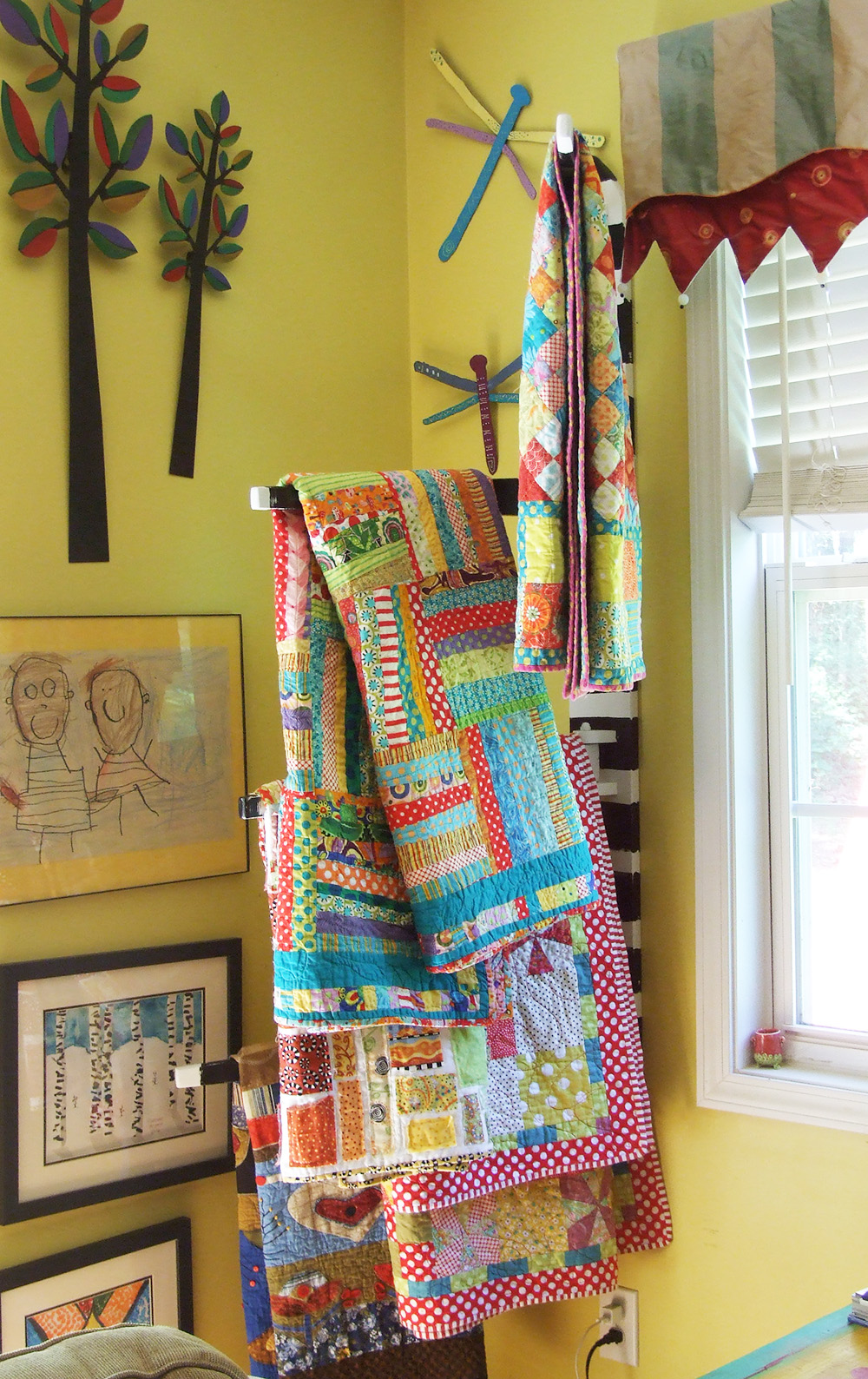 Jennifer Jangles Blog Quilt Rack