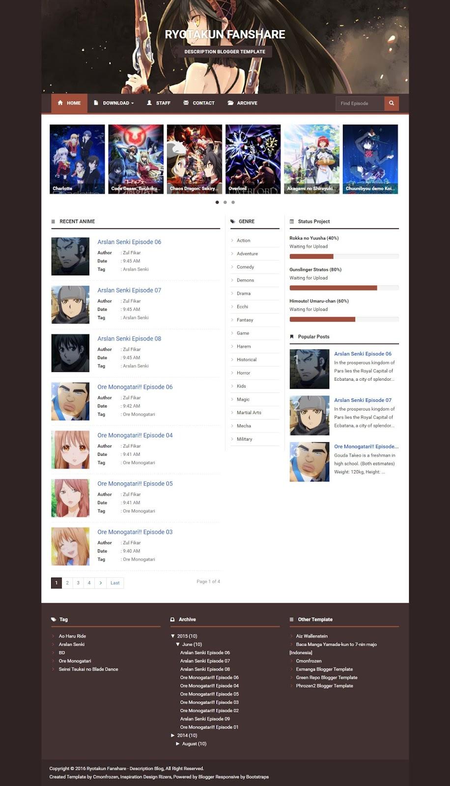 Free Download Ryotakun Fanshare Blogger Template design by cmonfrozen