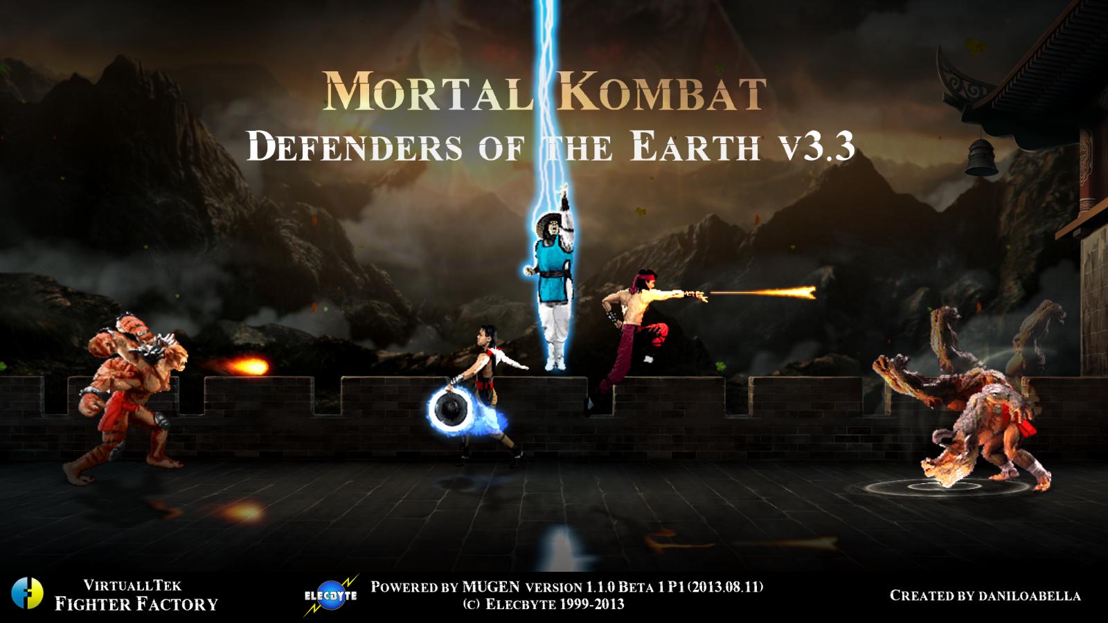 Mortal Kombat Defenders of the Earth M U G E N Games: 2018