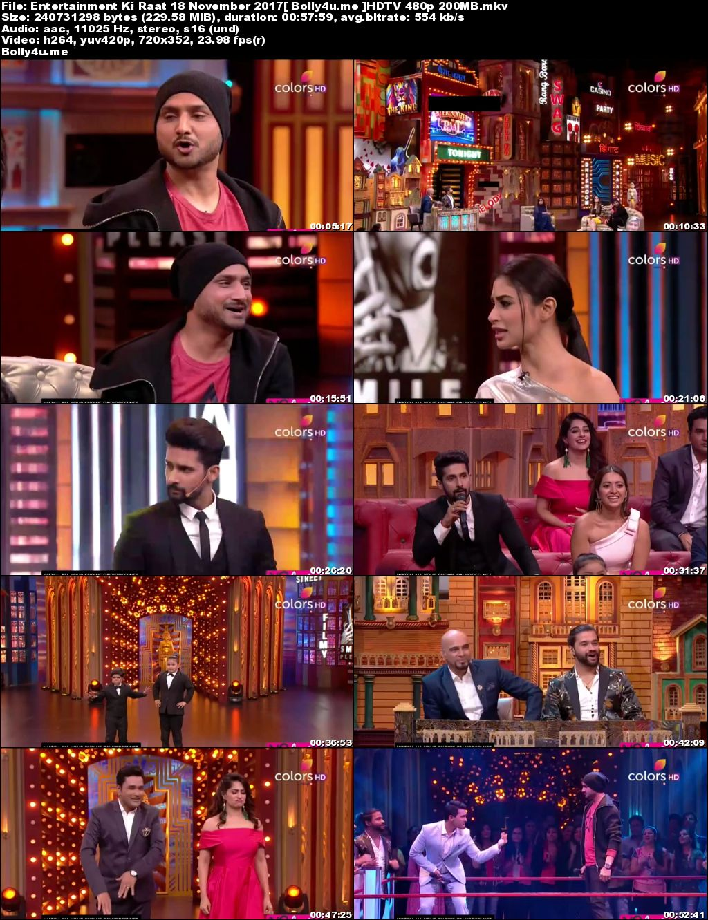 Entertainment Ki Raat HDTV 480p 200MB 18 November 2017 Download