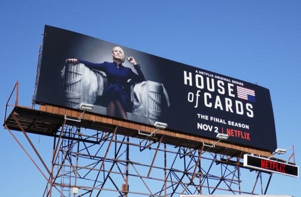 House of Cards final season billboard
