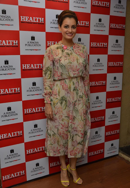 Dia Mirza in Floral Zara Dress at Health & Nutrition Magazine's