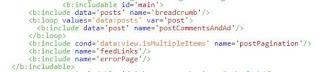 Loại bỏ các class blog-posts, hfeed và container mặc định trong widget Blog1 version 2