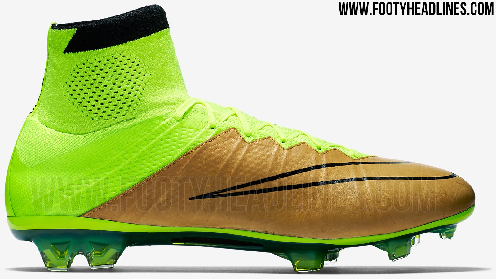9516e0753 ... Boots Yellow Orange White Nike Mercurial Superfly K-Leather Canvas Volt  .