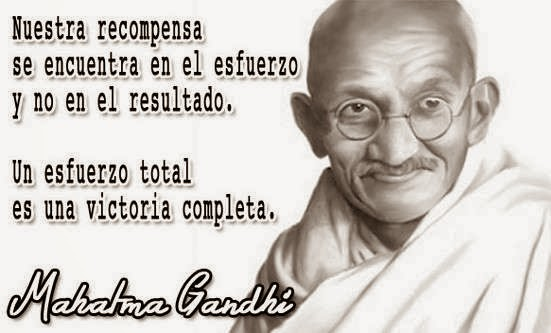 Mahatma Gandhi frase