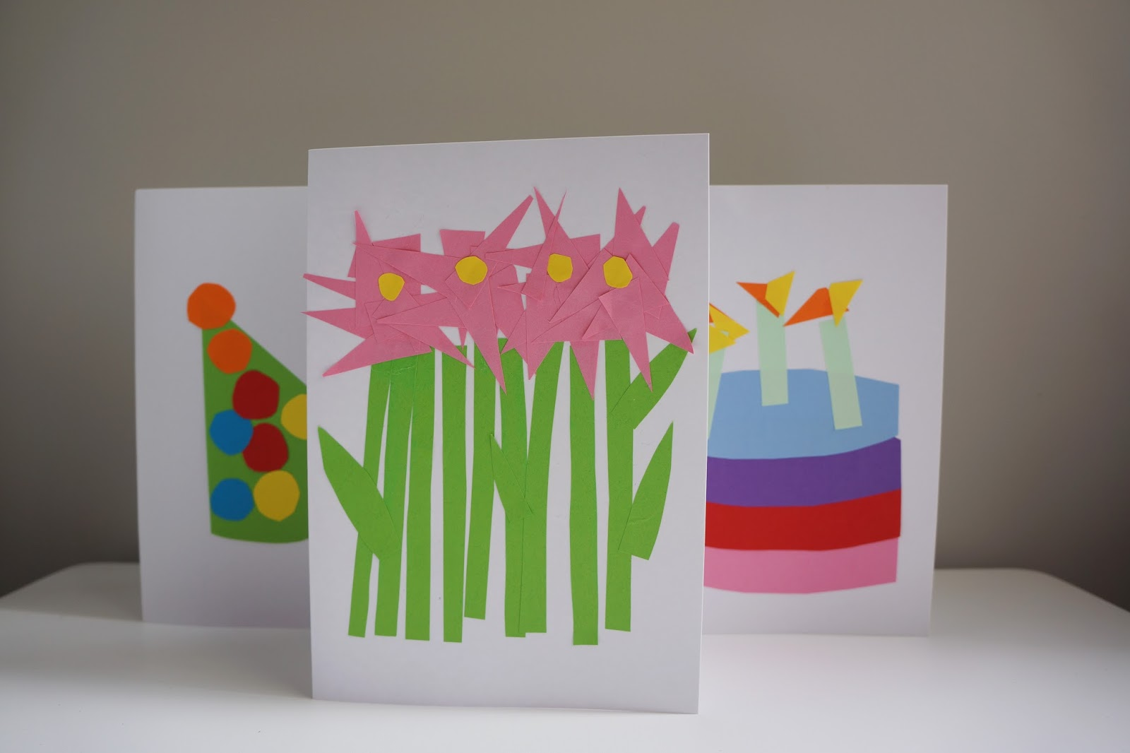 flower bouquet birthday card toddler craft