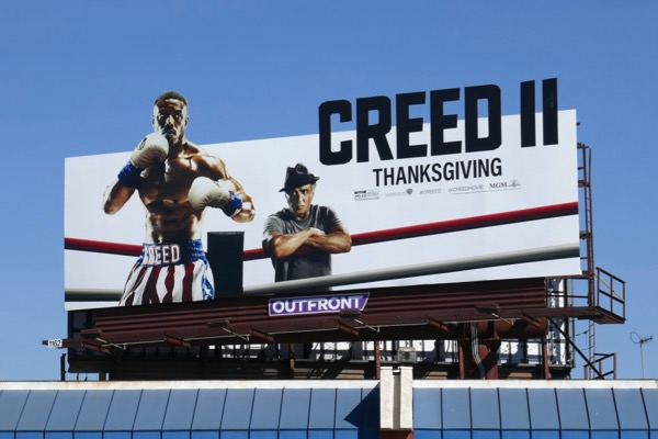 Creed II film billboard