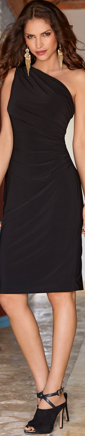 Boston Proper One Shoulder Drape Dress