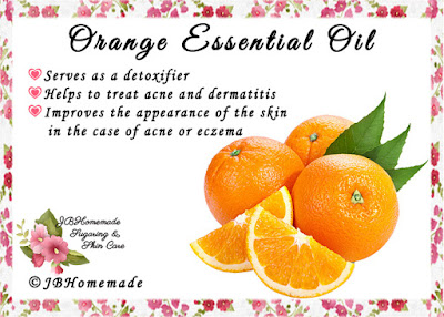 Orange (Also called Wild Orange) ♦Serves as a detoxifier ♦Helps to treat acne and dermatitis ♦Improves the appearance of the skin in the case of acne or eczema