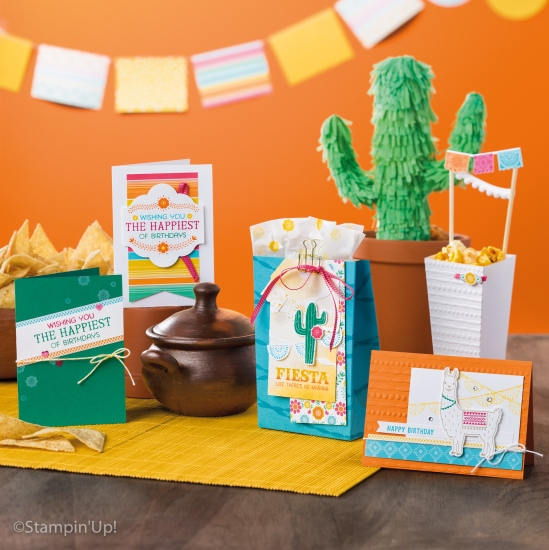 Stampin' Up! Festive Birthday Suite is bright and playful.