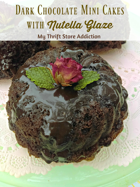 Dark chocolate mini cakes featuring Nutella glaze