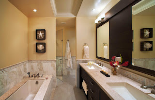 Upscale bathroom at the Landings Resort, St Lucia