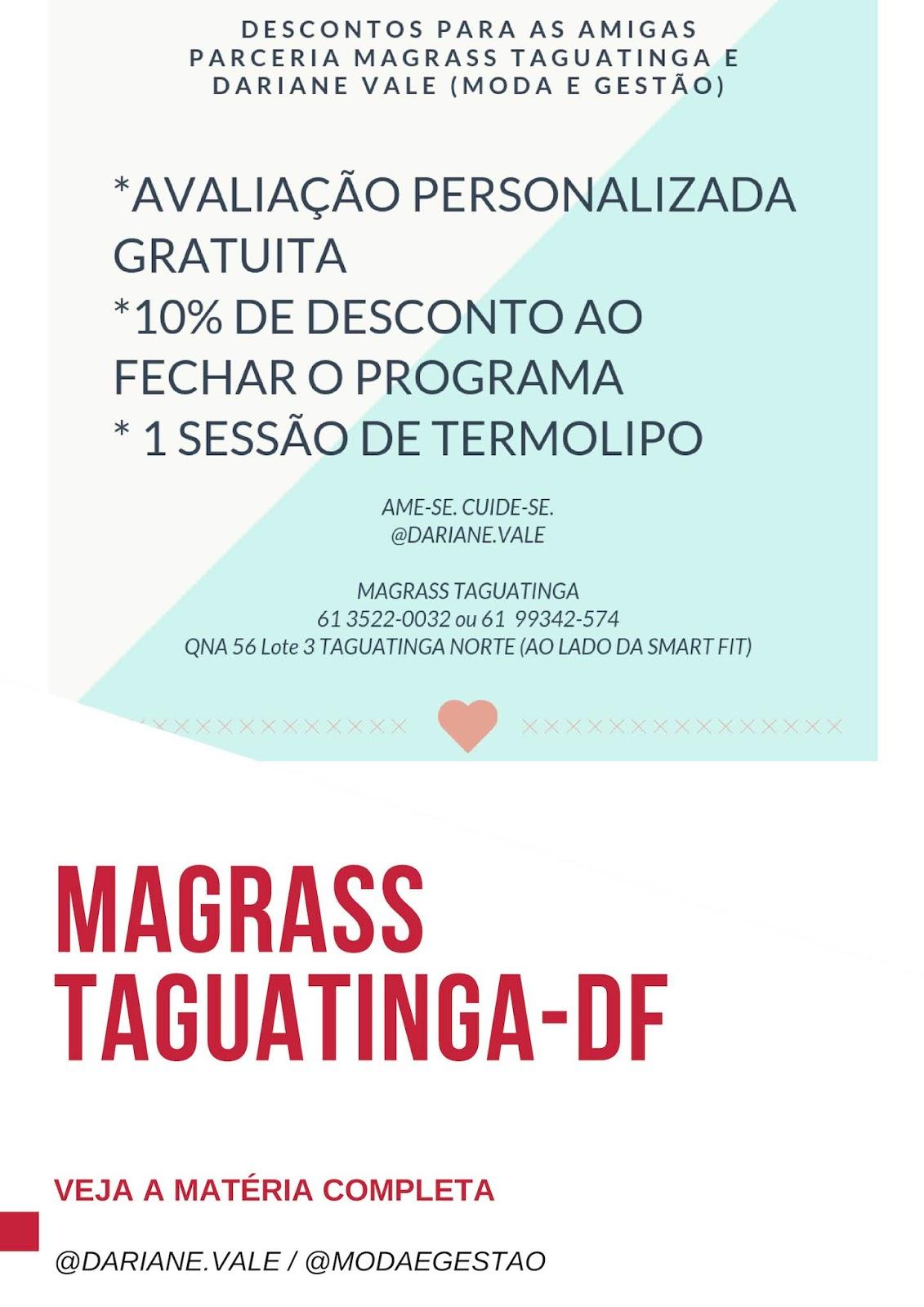 Emagrecendo saudavelmente com Magrass Taguatinga: diário de transformação