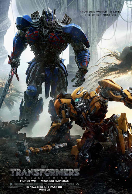 Transformers The Last Knight Bumblebee and Optimus Prime Poster