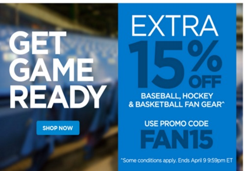 The Shopping Channel Flash Sale Extra 15% Off Baseball, Hockey & Basketball Fan Gear Promo Code