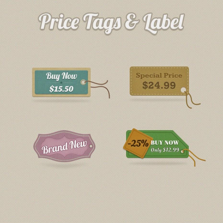 Price Tags PSD