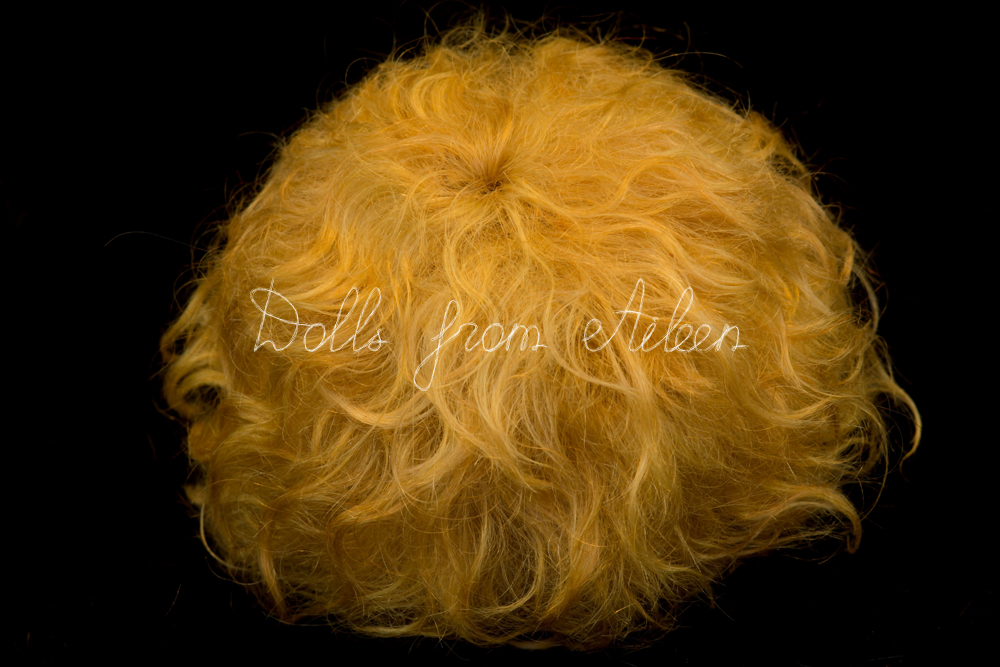 handmade mohair wig for ooak baby doll
