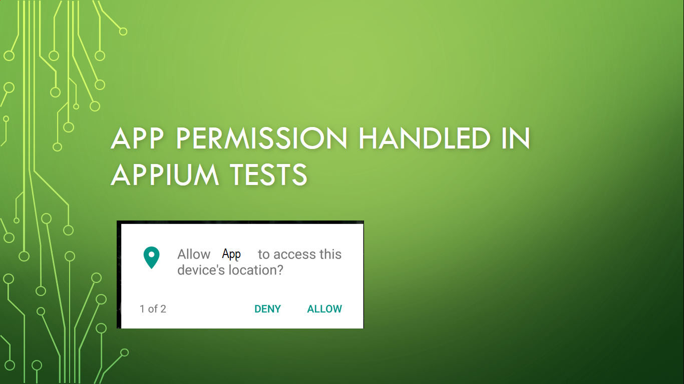 How to Handle App Permissions popup in Appium Test ~ QA Automated