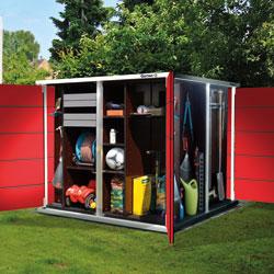 garten q moderne gartenh user gartenschr nke m llboxen und unterst nde 2013. Black Bedroom Furniture Sets. Home Design Ideas