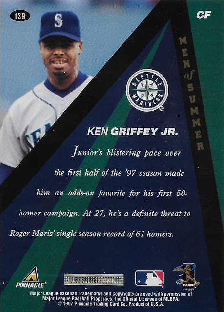 657748599a With the placement of the sun element, this card has Junior looking like  the second coming (and in terms of guys named Ken Griffey, ...