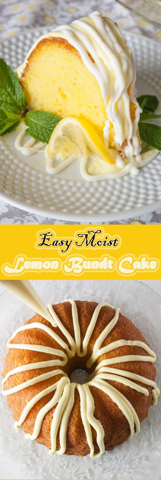Easy Moist Lemon Bundt Cake Recipes