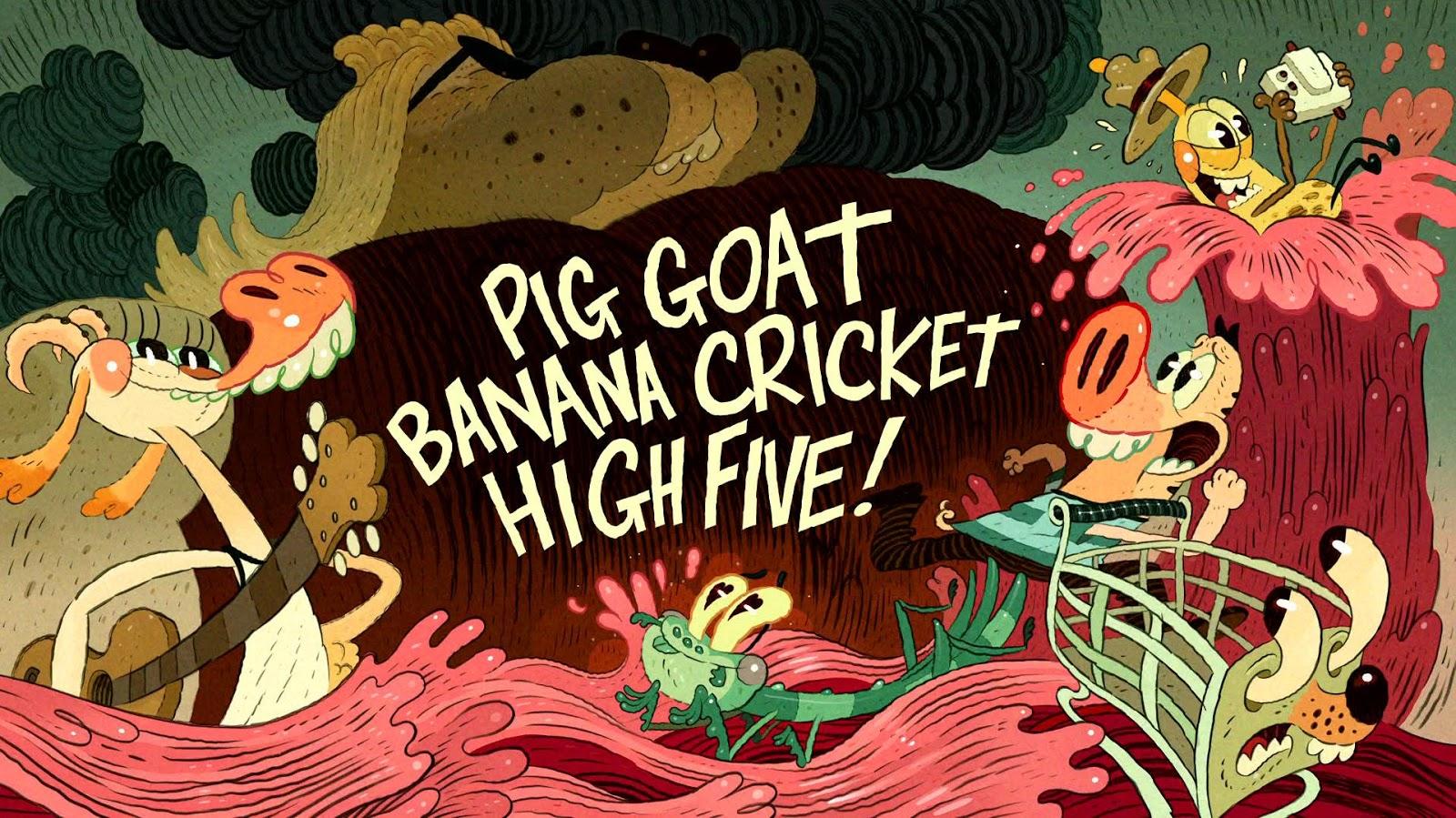 pig goat banana cricket high five! - 1280×720