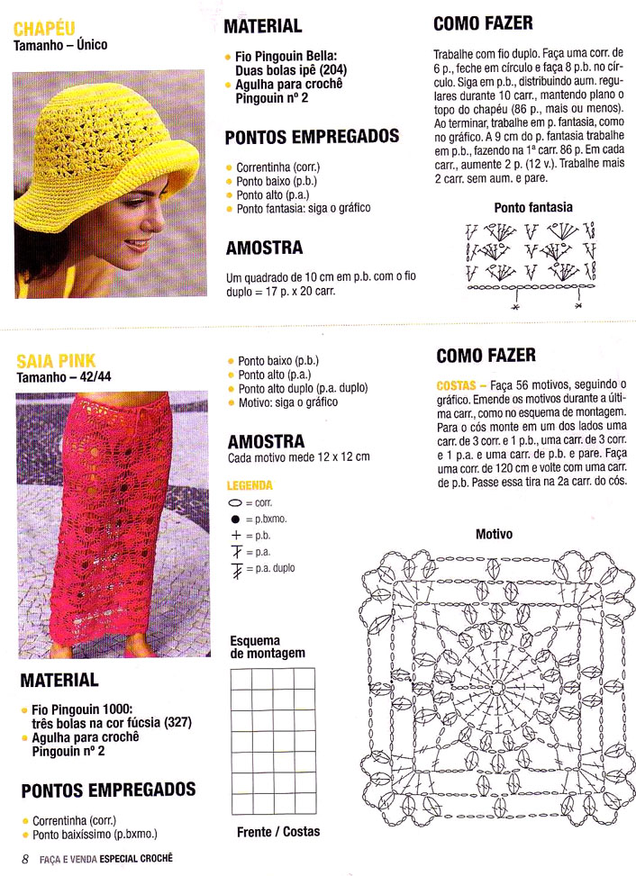 Magnífico Sombreros Del Ganchillo De Los Patrones Libres De Las ...