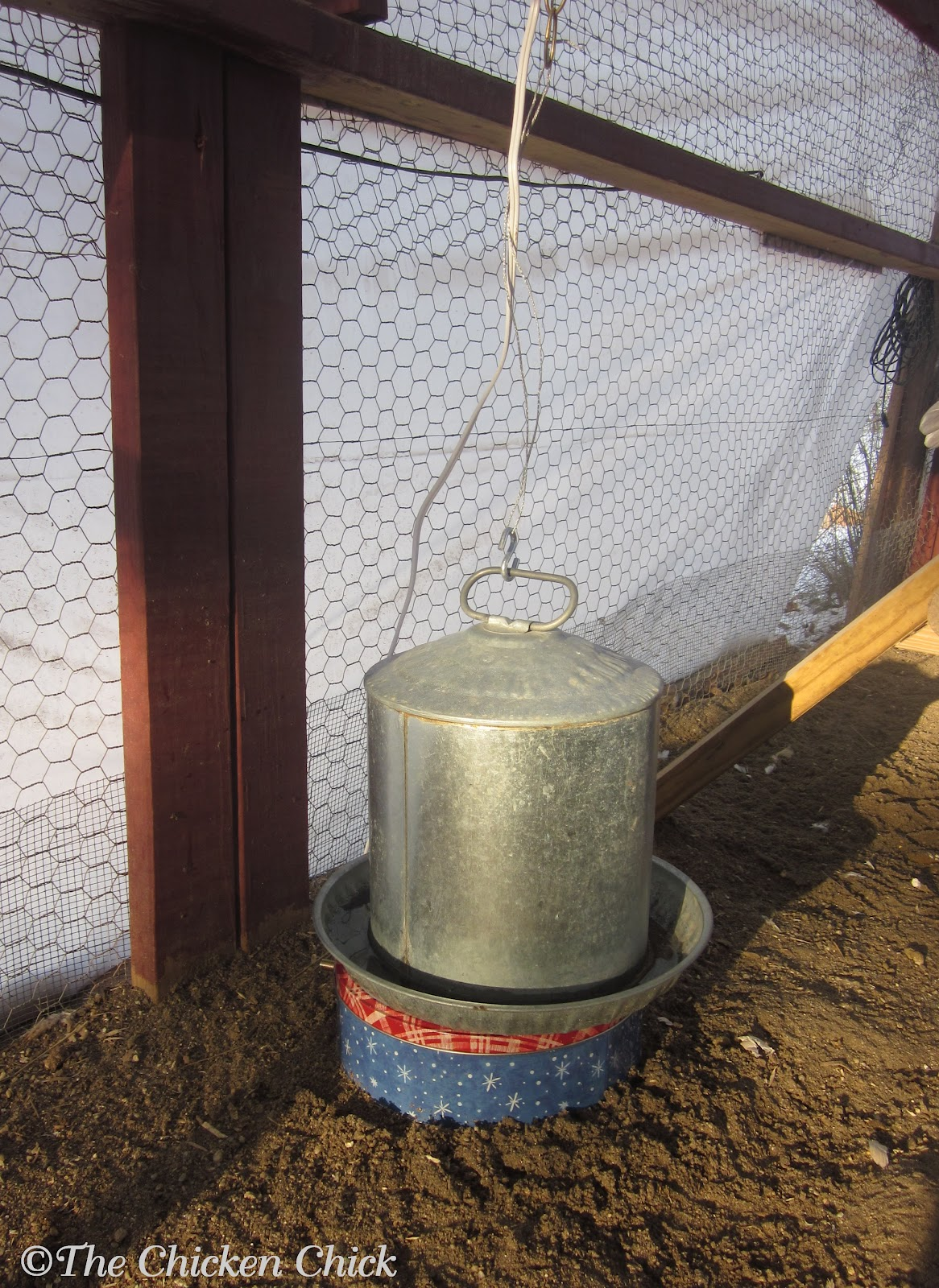 The Chicken Chick 174 Make A Cookie Tin Waterer Heater