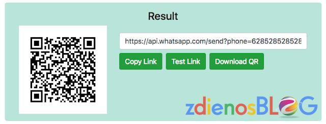 result - WhatsApp Link Generator