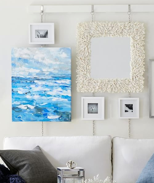 Blue Abstract Ocean Art Canvas Ideas