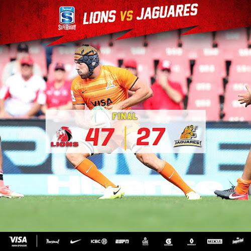 Jaguares no pudo con Lions en Sudáfrica