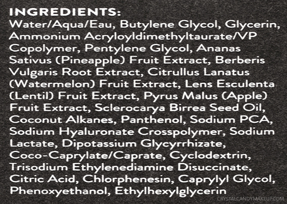 Drunk Elephant B-Hydra Intensive Hydration Gel Review Ingredients List