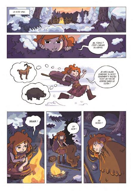"""Liloo filles des cavernes tome 1 """"la grande chasse"""" page 8 du récit"""