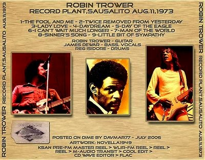 The Witchwood Records Re Up Robin Trower Record Plant