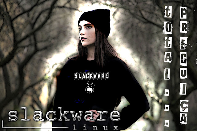 Slackware Wallpaper dark girl
