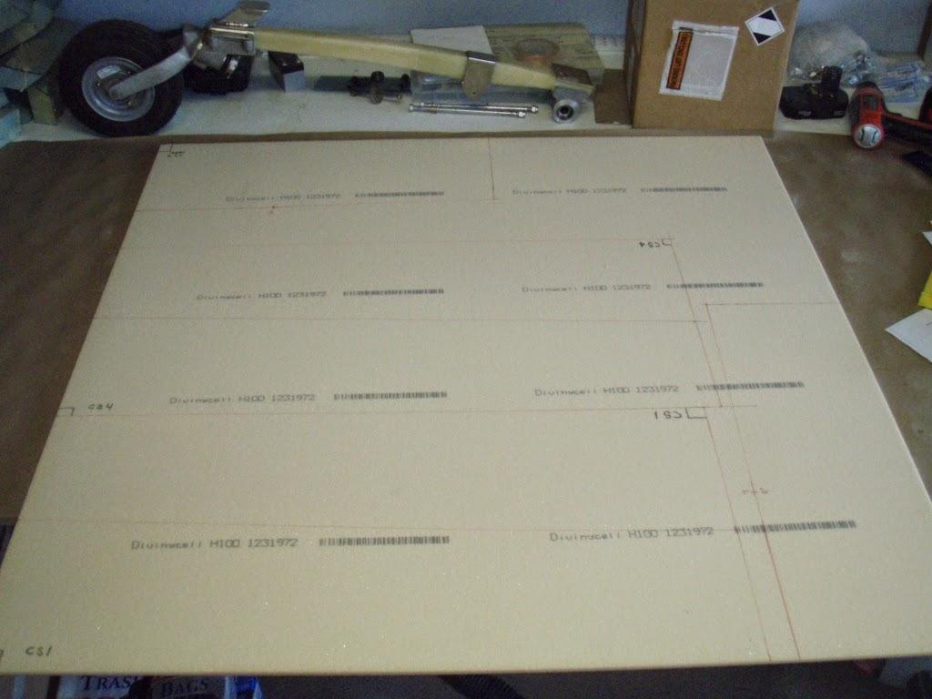 The Long Ez Build Spar Foam Panels