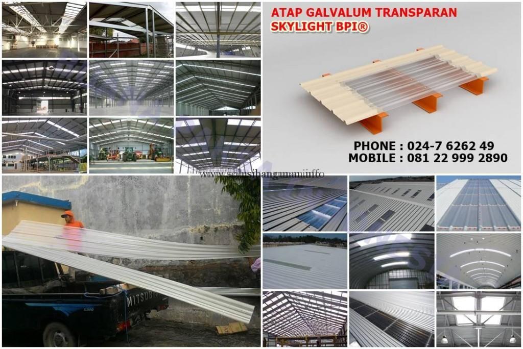 pabrik baja ringan profil z daftar harga atap transparan skylight di ungaran ...